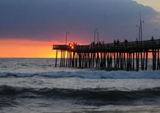 The pier in Virginia Beach offers a beautiful view of the ocean as well as fishing.