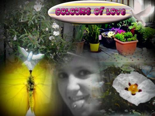 My beautiful baby Erin in her garden of love.