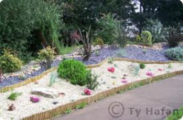 A section of the beautiful garden at Ty hafan.