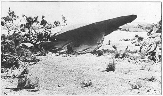"Photo of crashed ""Weather Balloon.""  Right!"