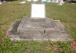 Christena Memorial headstone in Nevis.  Victims were buried in mass graves on both islands.
