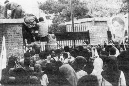Student protesting the U.S. Embassy Iran 1979