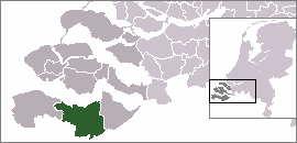 Map location of Terneuzen municipality