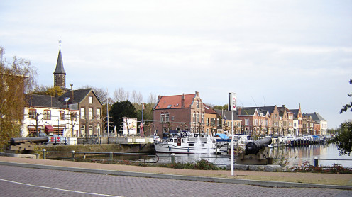 View of the Oostkade, Sas-van-Gent