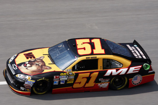 Busch, running a Talladega Nights-themed car while with Phoenix Racing
