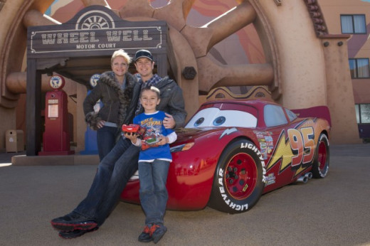 Kurt Busch posing at Disney World. He's shown time and again he's got a sense of humor
