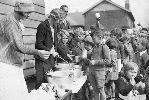 Soup Line from the Great Depression.