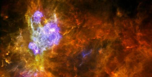 W3 Stellar Nursery in the Milky Way