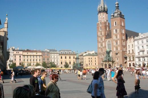 Old Town, Square, Krakow, Poland