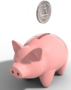 Piggy Bank - A great way to save your loose change