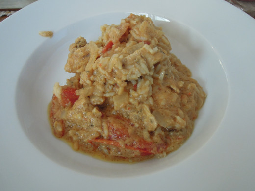 How the final peanut butter chicken dish will look