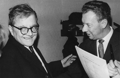 Dmitri Shostakovitch and Benjamin Britten (composer): Admirers of each other's work