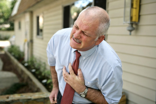 There are several causes of chest pain. Anyone who develops severe chest pain should call for an ambulance immediately because the symptoms may be due to a clot in the blood vessels supplying the heart