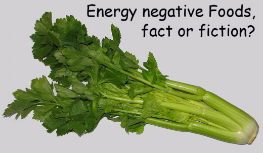 Celery is very often mentioned as an energy negative food.