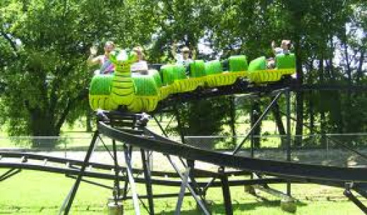 A Childrens roller coaster is one of the newest additions to Spring Park.