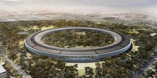 Apple Headquarters where new ideas and high tech cutting edge products are born.