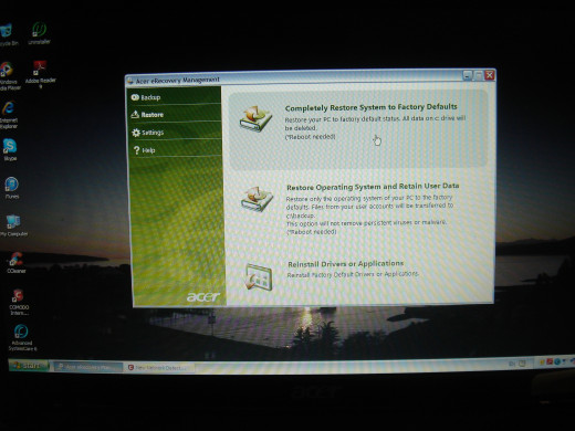 Installed new screen and started the creation of recovery DVDs.