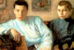 Portrait of Pasternak (left)  and his brother, Alex, painted by his father, Leonid Pasternak, post-impressionist Russian painter.