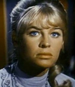 Julie Christie portraying Lara, the object of Zhivago's passion and desire.
