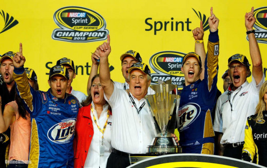 Brad Keselowski feuded with Hamlin in years past but he's a champion twice over now and Hamlin has yet to win one
