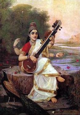 Saraswati, goddess of music, literature and the arts