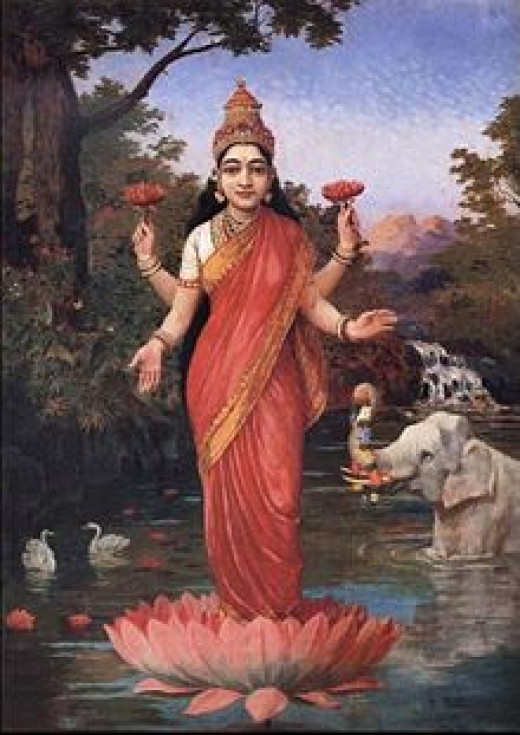 Lakshmi, goddess of wealth, inner and outer beauty and prosperity.