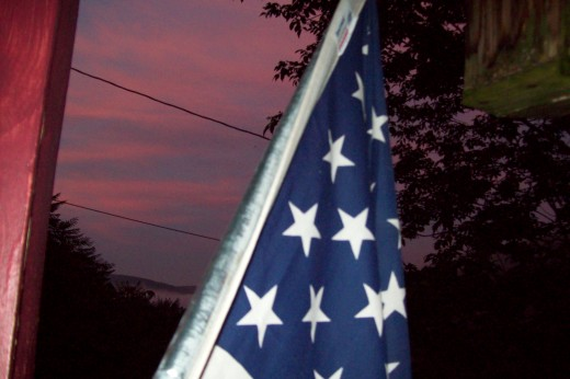 This is another shot from my front porch. I thought the flag was a nice touch.