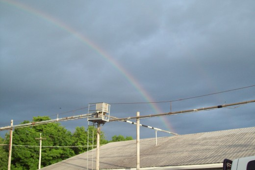 This rainbow was over the egg processing plant I work at.