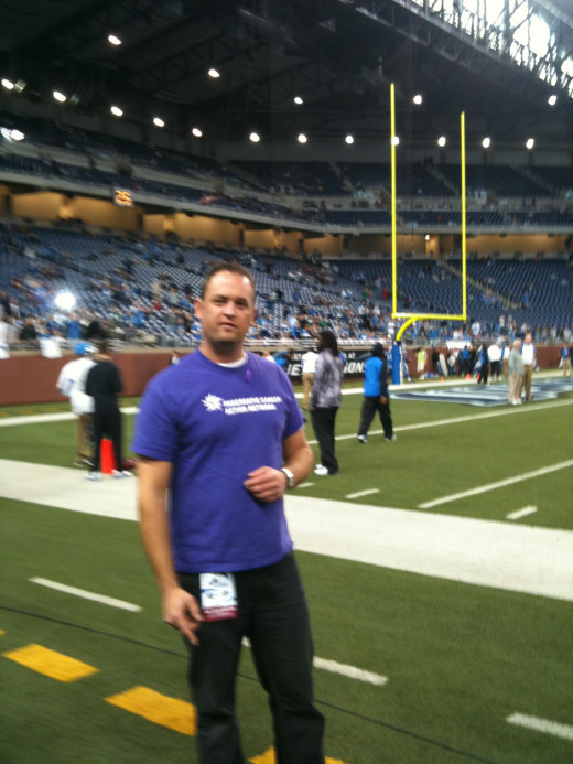 Detroit Lions game w/ Pancreatic Cancer Action Network