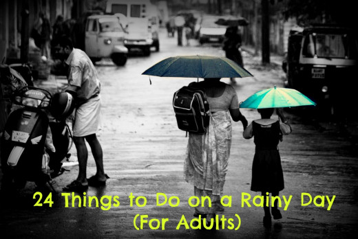 Rainy days are somber-yet-beautiful. What's your favorite thing to do on a rainy day?