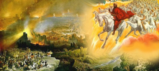 The coming of Jesus as a Davidic warrior-king, as often described in the Book of Revelations