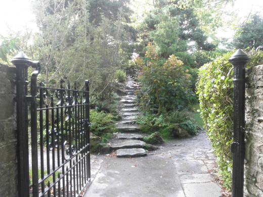 Some pretty stairs in one of the garden areas.