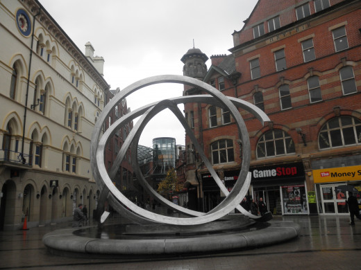 Sculpture near Victoria Square.