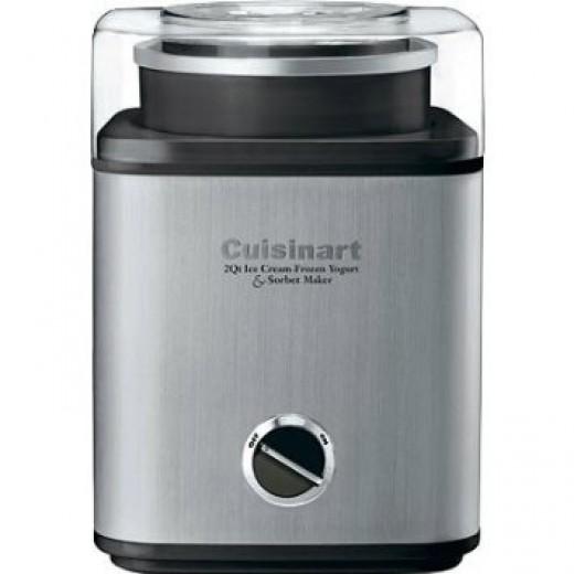 A Cuisinart Pure Indulgence 2-Quart Automatic Frozen Yogurt, Sorbet, and Ice Cream Maker