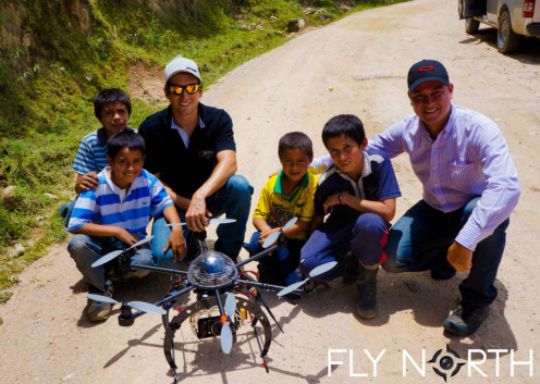 Village locals are curious about UAVs flying around their village. UAVs are great for landscaping in remote terrains.