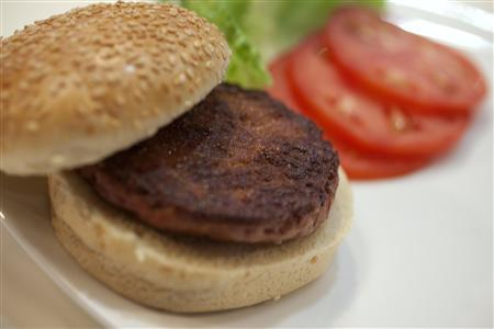 Taste-testers at the event were somewhat reserved with their opinions of this first burger.