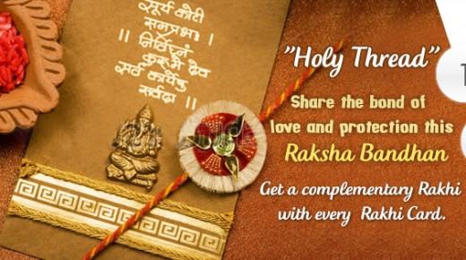 A Rakhi Greeting Card