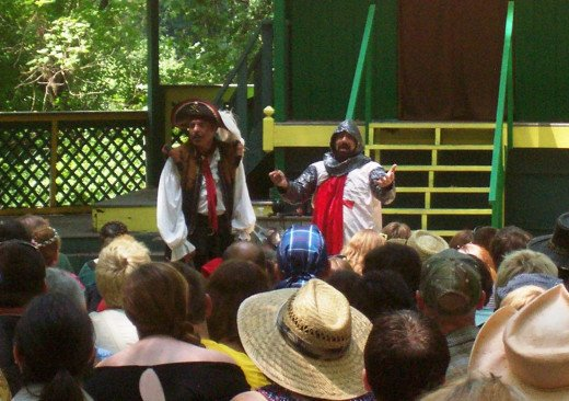 Don Juan (Jose Granados, left) and his manservant Miguel (Doug Kondziolka) entertain the crowds at the Sterling Renaissance Festival