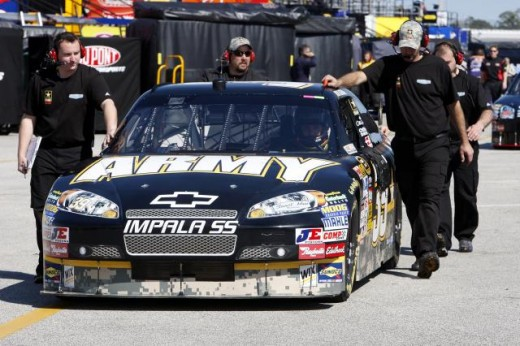 Thanks to budget cuts, SHR had to replace the U.S. Army as a primary sponsor
