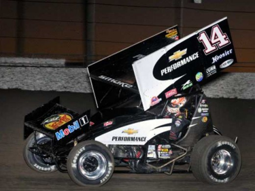 Tony Stewart spends many an off-day racing Sprint cars like this one. It's not a low-risk activity