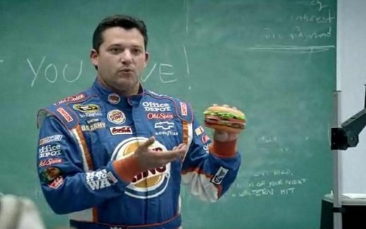 Stewart is the focus of major corporate advertising dollars, even for an associate sponsor such as Burger King