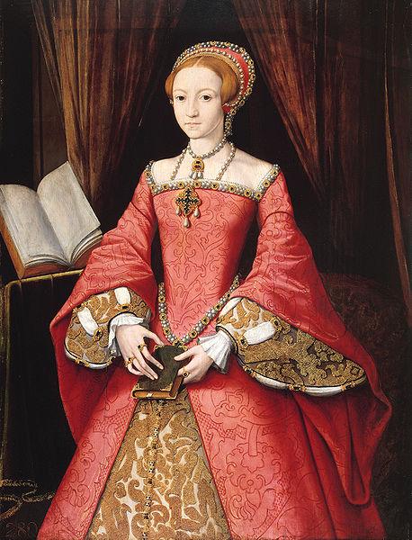 The young Princess Elizabeth Tudor