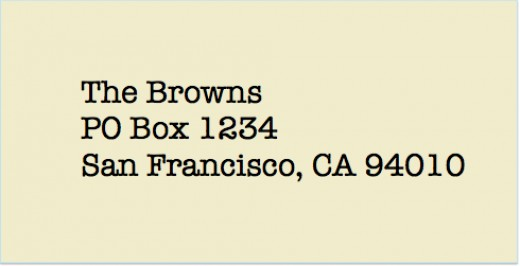 Is there any preference between a street address and PO Box?