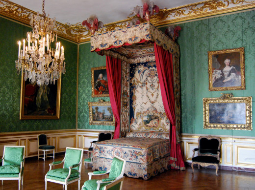 Versailles Palace is widely regarded as the last word in luxury. Imagine sleeping in this room!
