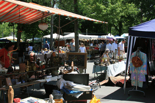 Spend a fun Saturday browsing a flea market for deals that you can later profit from on eBay.