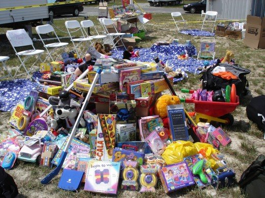 This pile of toys on the grass may look like a mess, but it could be worth money!