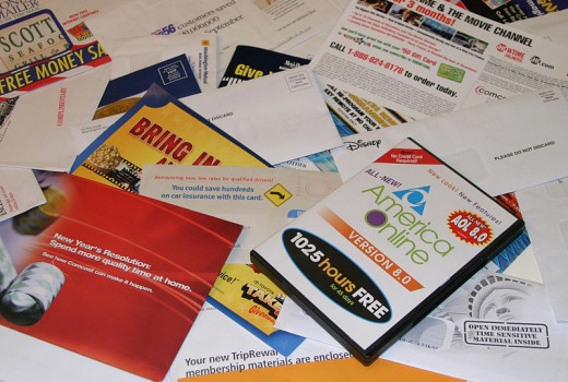 Collection of junk mail