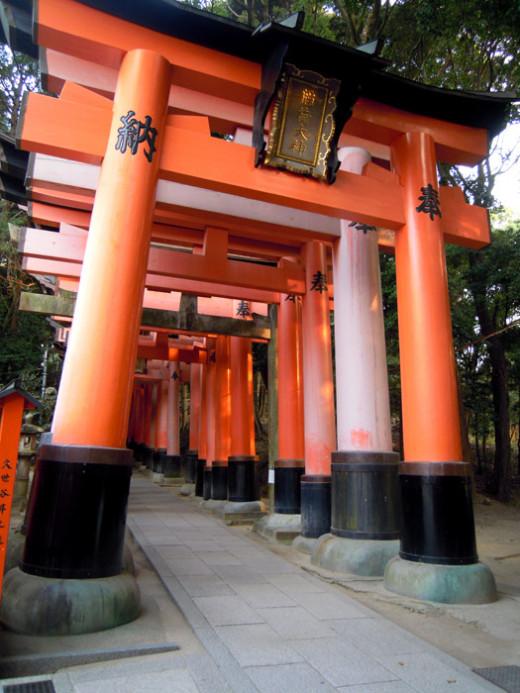 Inari Gates in Kyoto, Japan