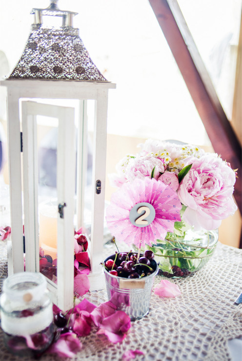 DIY Shabby chic table numbers.