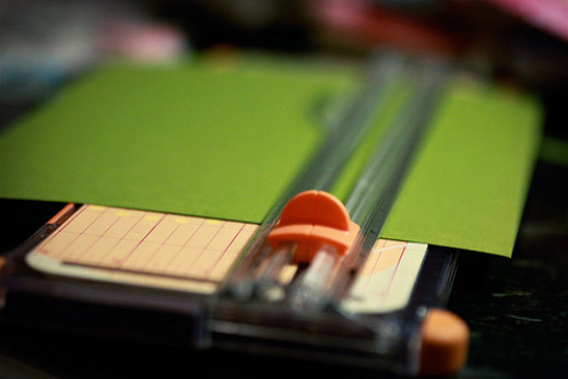 A paper slicer guarantees you straight, perfect lines on your scrapbook page.